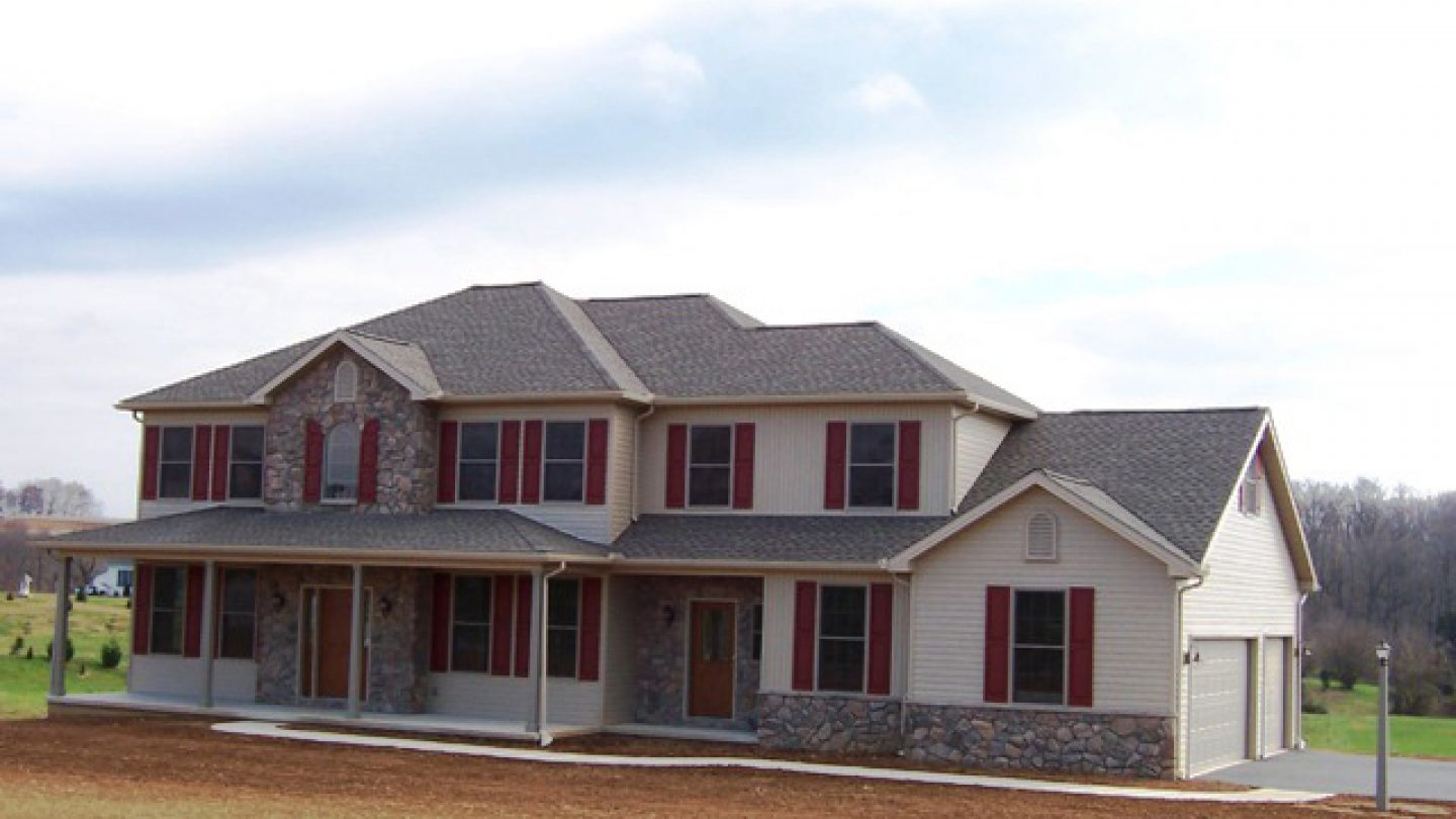 custom home front elevation